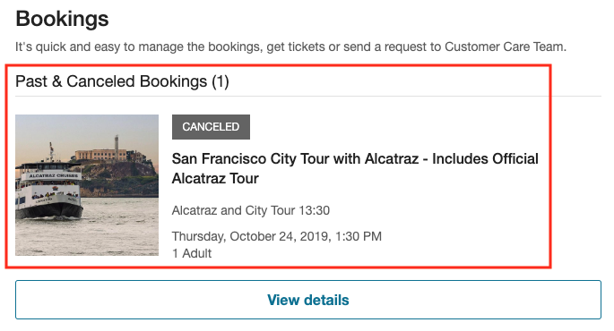 canceled booking
